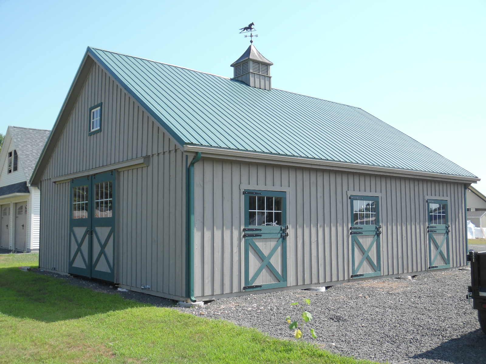 30 X 36 Horsebarn Board And Batten Hometown Structures