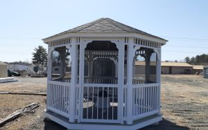 12' octagon country vinyl gazebo