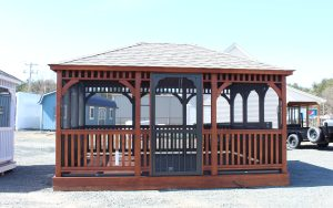 12' x 16' dutch rectangle wood gazebo