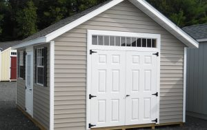 12' x 16' New England Cape Vinyl shed