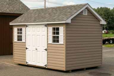 brown gable shed