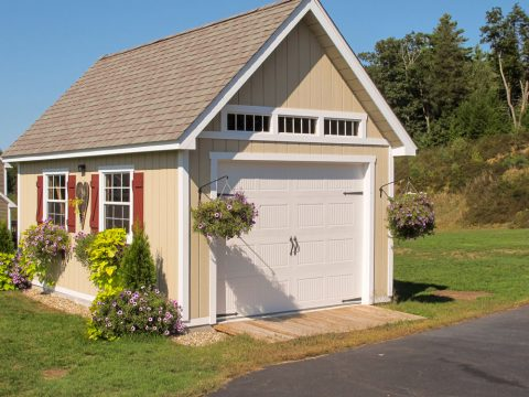 one car garage from hometown structures