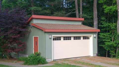 prefab one car garage