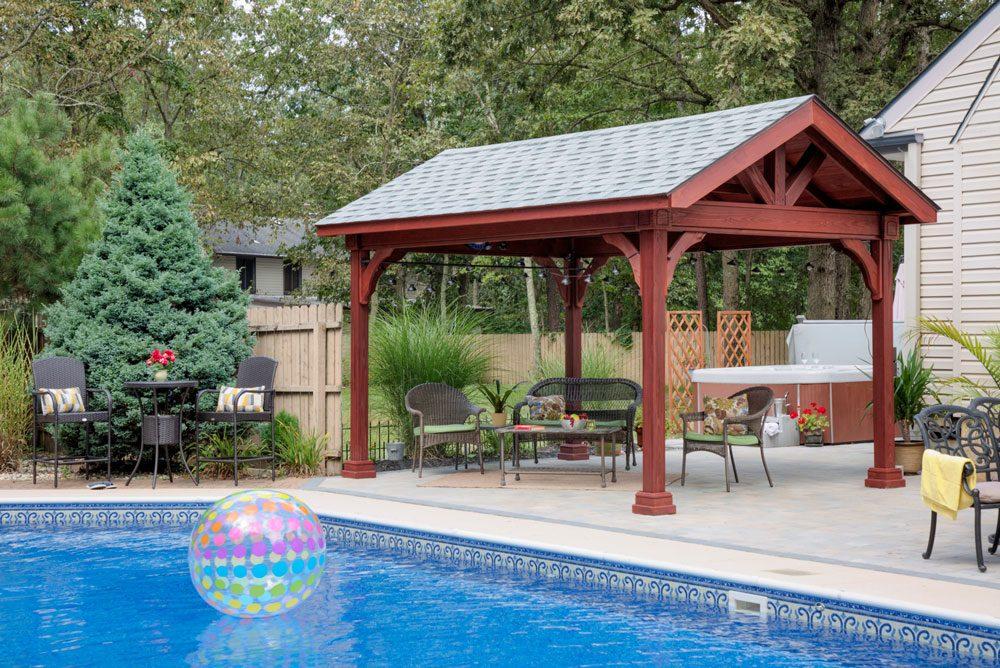 a frame outdoor pavilion