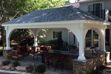 pre built pavilions for patios