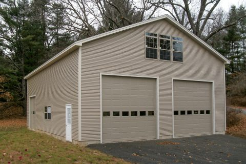 pre built 2 car garage