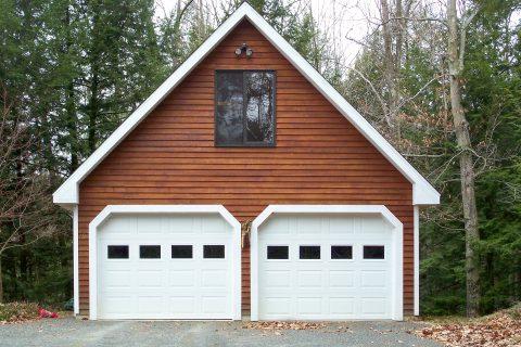 standard 2 car garage