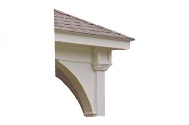 pre built pavilion overhang