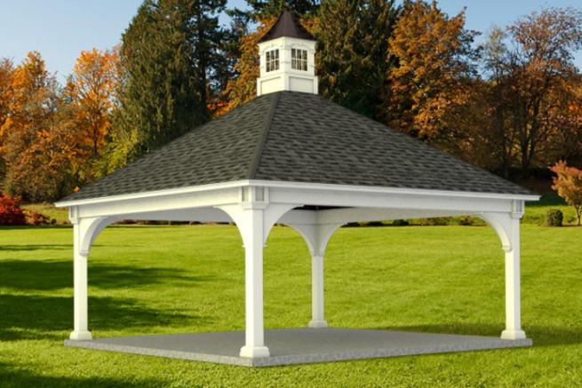 custom pre built pavilions