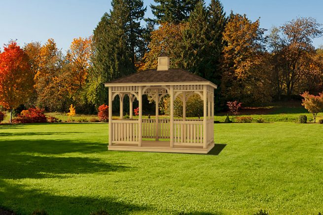 custom rectangular gazebo