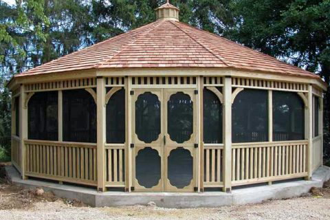 dodecagon gazebo with screen