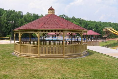 wooden dodecagon gazebo