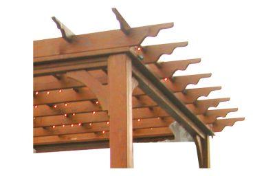 classic pergola overhang