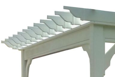 overhang on pergola designs
