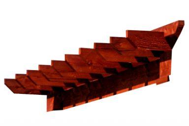 rustic pergola overhang