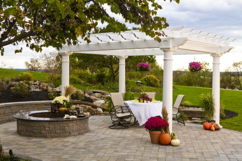 backyard garden pergola