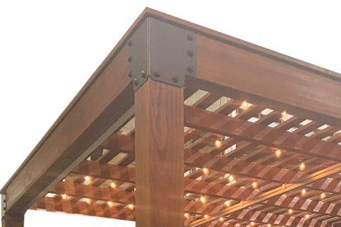 modern pergola siding