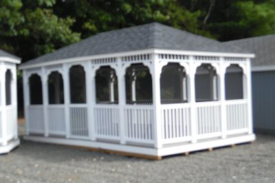 12' x 20' vinyl country rectangle gazebo