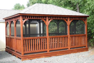 12' x 16' wood dutch rectangle gazebo