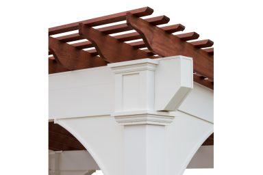 small pergola overhang