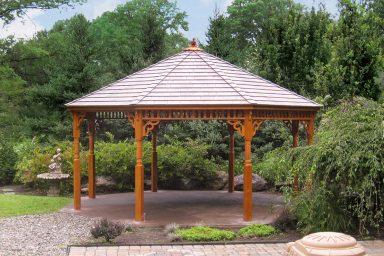 wooden octagon gazebo design