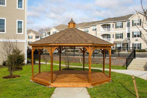 octagonal gazebo wooden