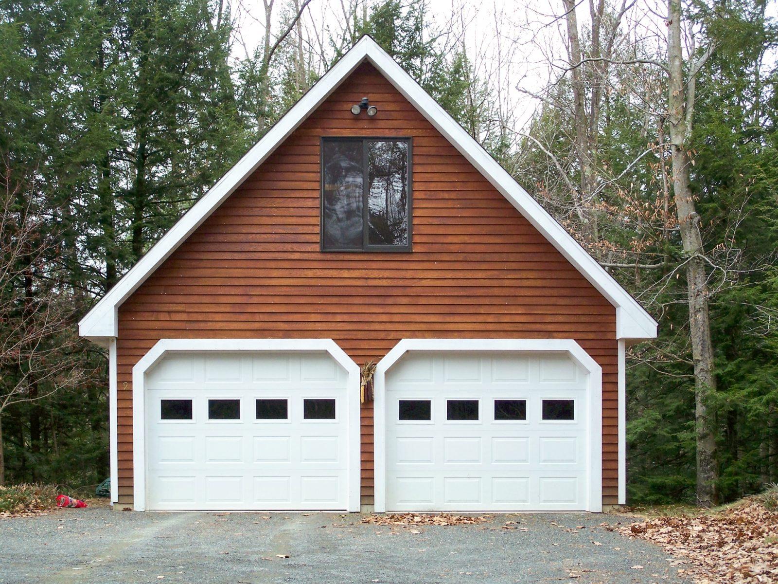standard 2 car detached garages in worcester ma