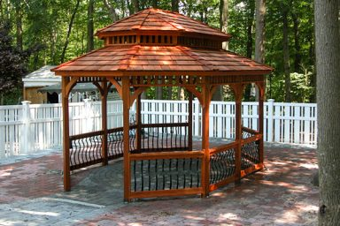 small oval gazebo
