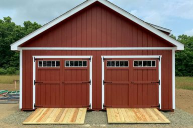 pre built sheds with double doors