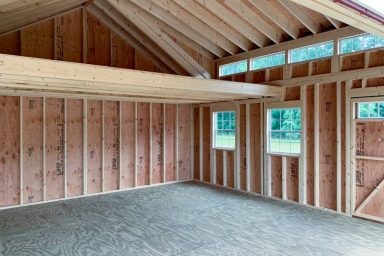 pre built sheds with windows and loft