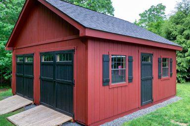 wooden pre built sheds