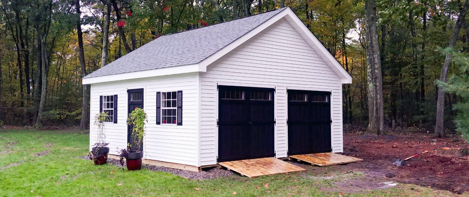 pre built sheds with 2 doors