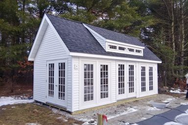 garden sheds with windows