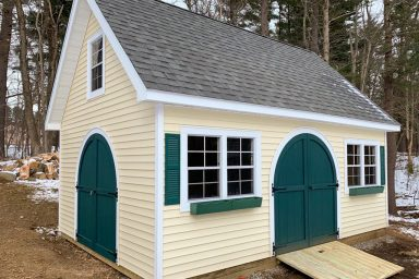 garden sheds with round doors