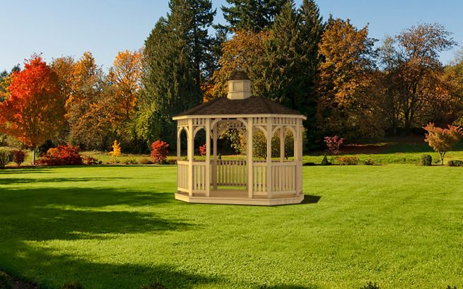 custom built oval gazebo