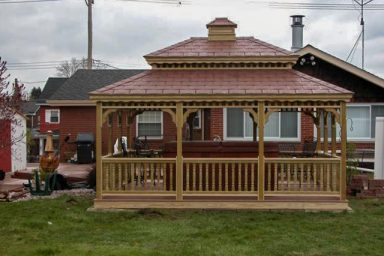backyard rectnagular gazebo
