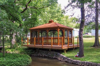 rectnagular gazebo for parks