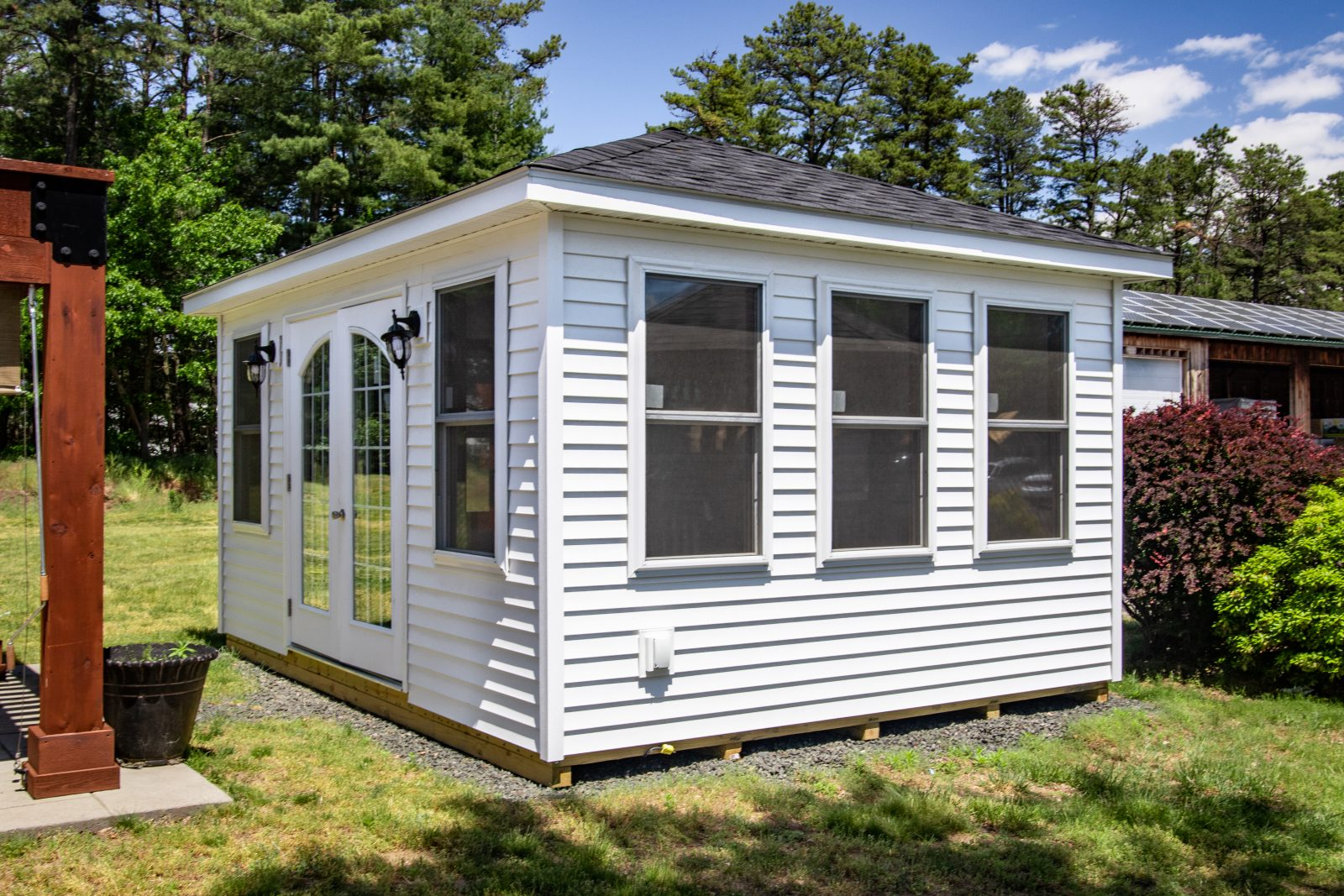 villa style finished sheds