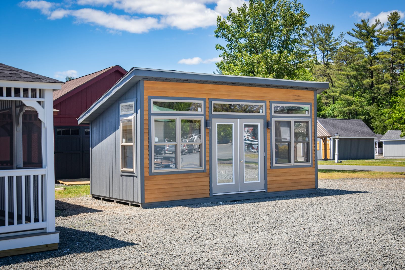 modern finished sheds
