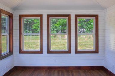 insulated shed with double pane windows