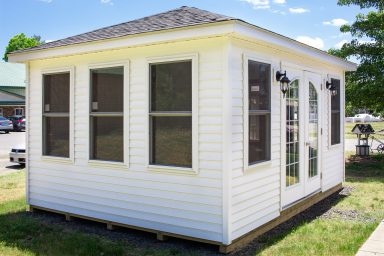 insulated shed with windows
