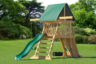 small wooden swing sets