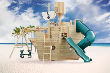 wooden swing sets ship