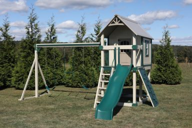 vinyl swing sets with playhouse