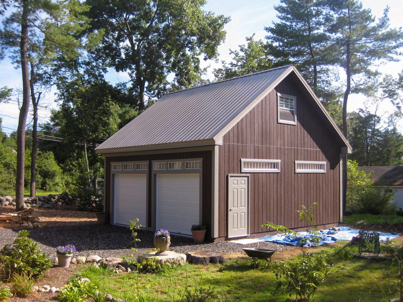 wide 2 car garage