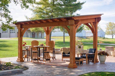 simple backyard pavilion