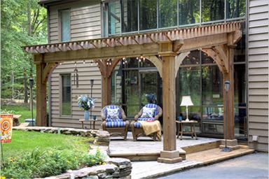 small backyard pavilion
