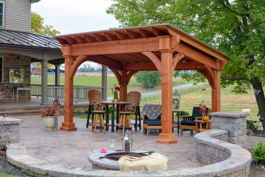 backyard outdoor pavilion