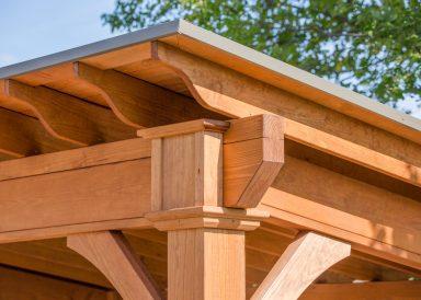 backyard pavilion pine wood corner
