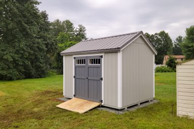 traditional shed with ramp